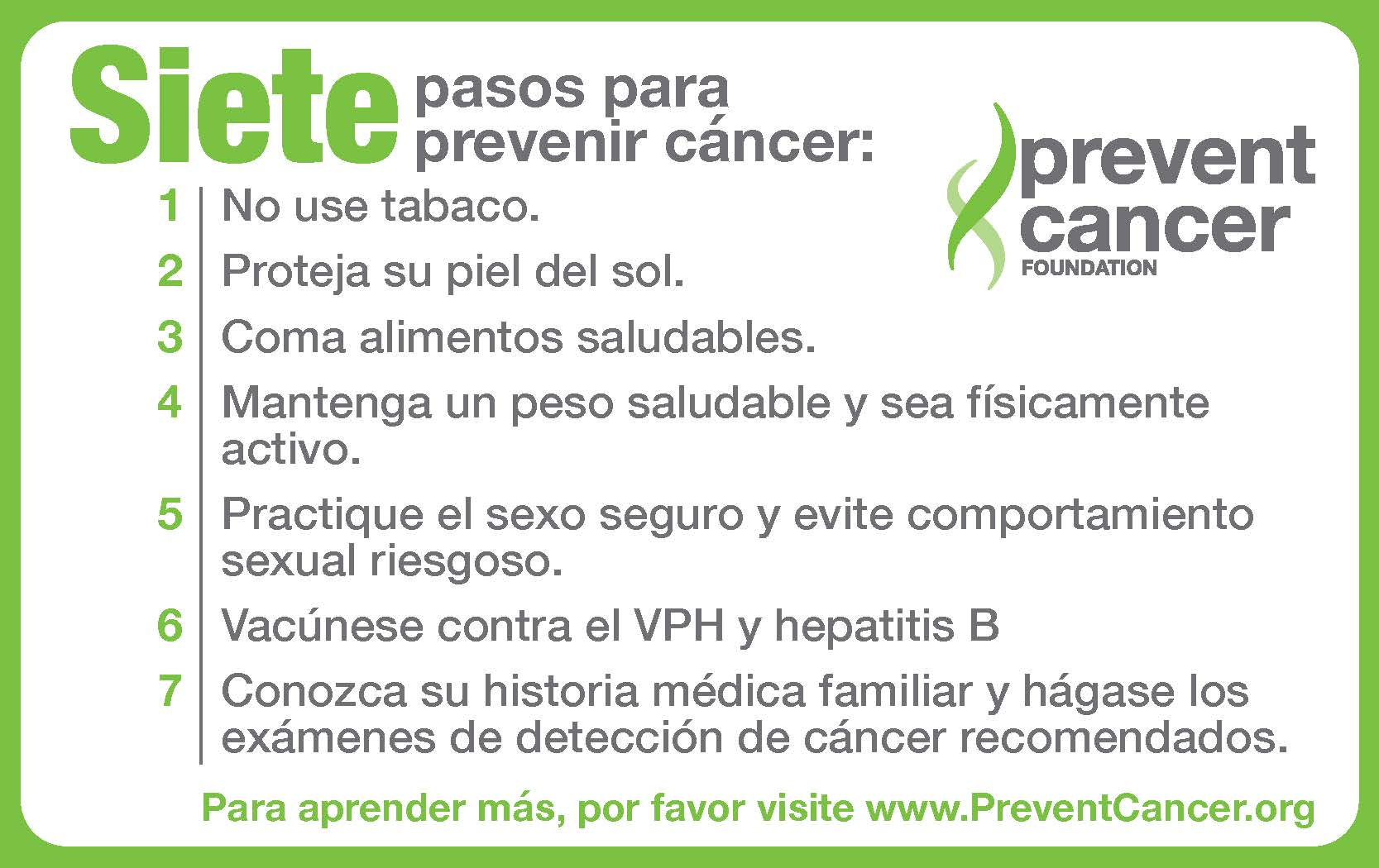 How to prevent cancer