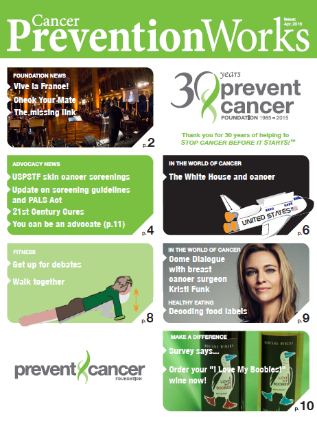 The April Edition of Cancer PreventionWorks is Here!