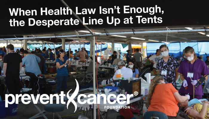 When Health Law Isn't Enough, the Desperate Line Up at Tents