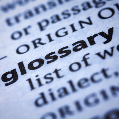 Image for Advocacy & Policy Glossary