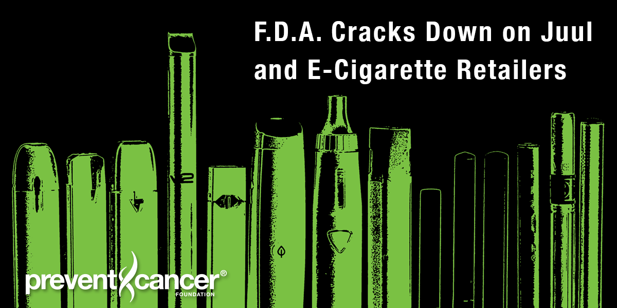 F.D.A. Cracks Down on Juul and E-Cigarette Retailers