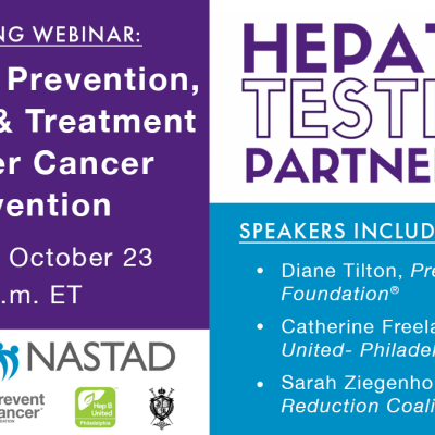 Image for Webinar: Hepatitis Prevention, Testing, and Treatment as Liver Cancer Prevention