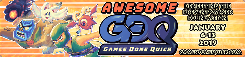 Awesome Games Done Quick - January 6-13, 2019
