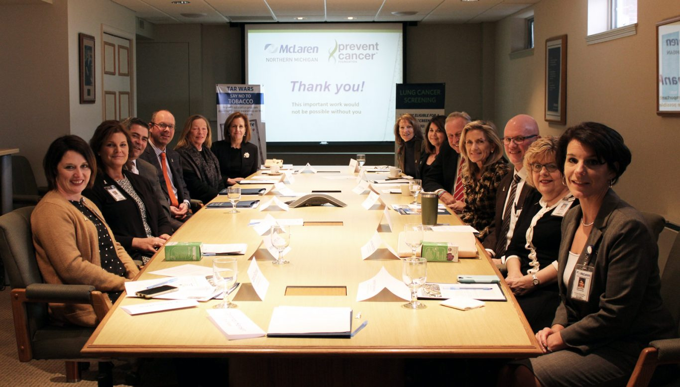 Prevent Cancer Foundation® visits McLaren Northern Michigan Foundation, recipient of $25,000 grant for lung cancer prevention program