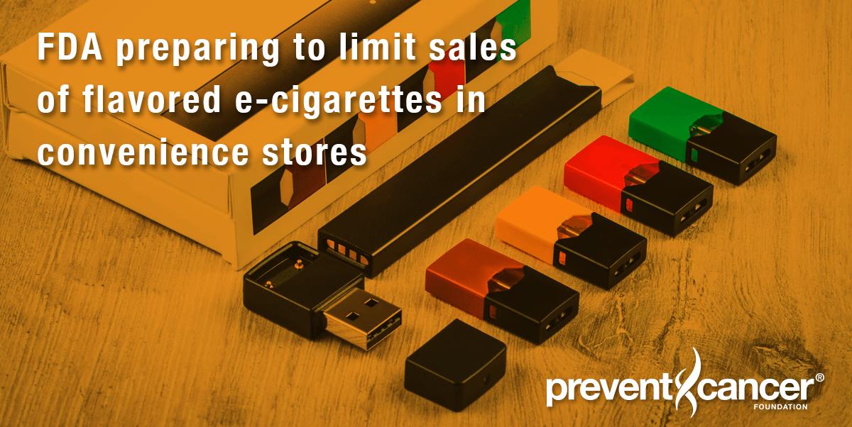 FDA preparing to limit sales of flavored e-cigarettes in convenience stores