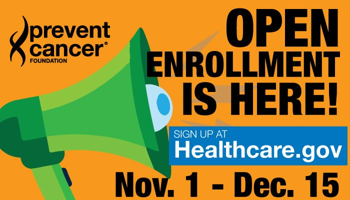 Open enrollment is here! Sign up at Healthcare.gov
