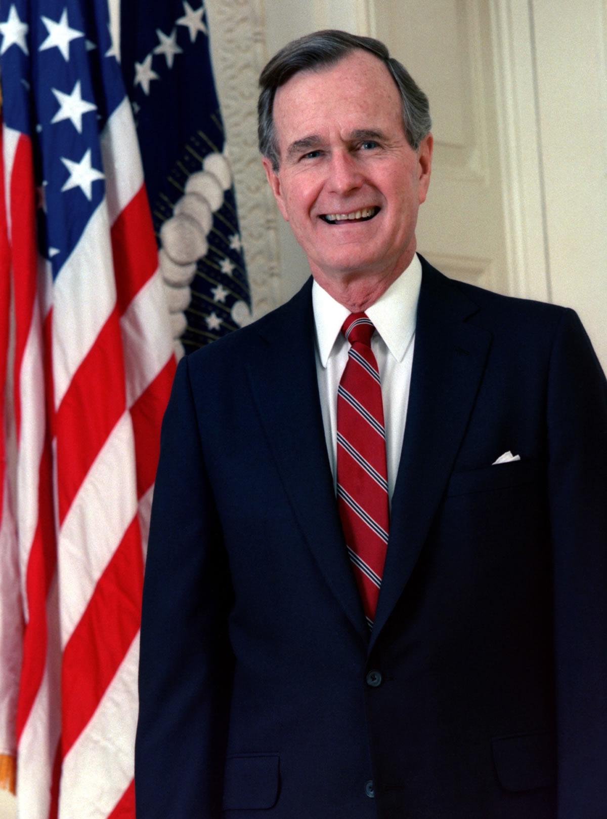 George H.W. Bush, President of the United States, 1989 official portrait