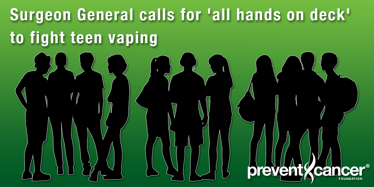 Surgeon General calls for 'all hands on deck' to fight teen vaping