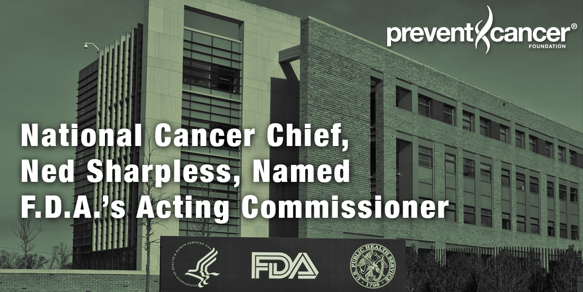 National Cancer Chief, Ned Sharpless, Named F.D.A's Acting Commissioner