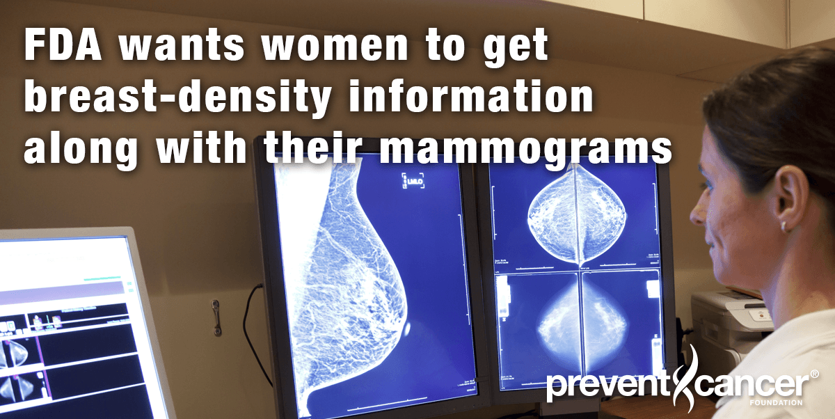 FDA wants women to get breast-density information along with their mammograms