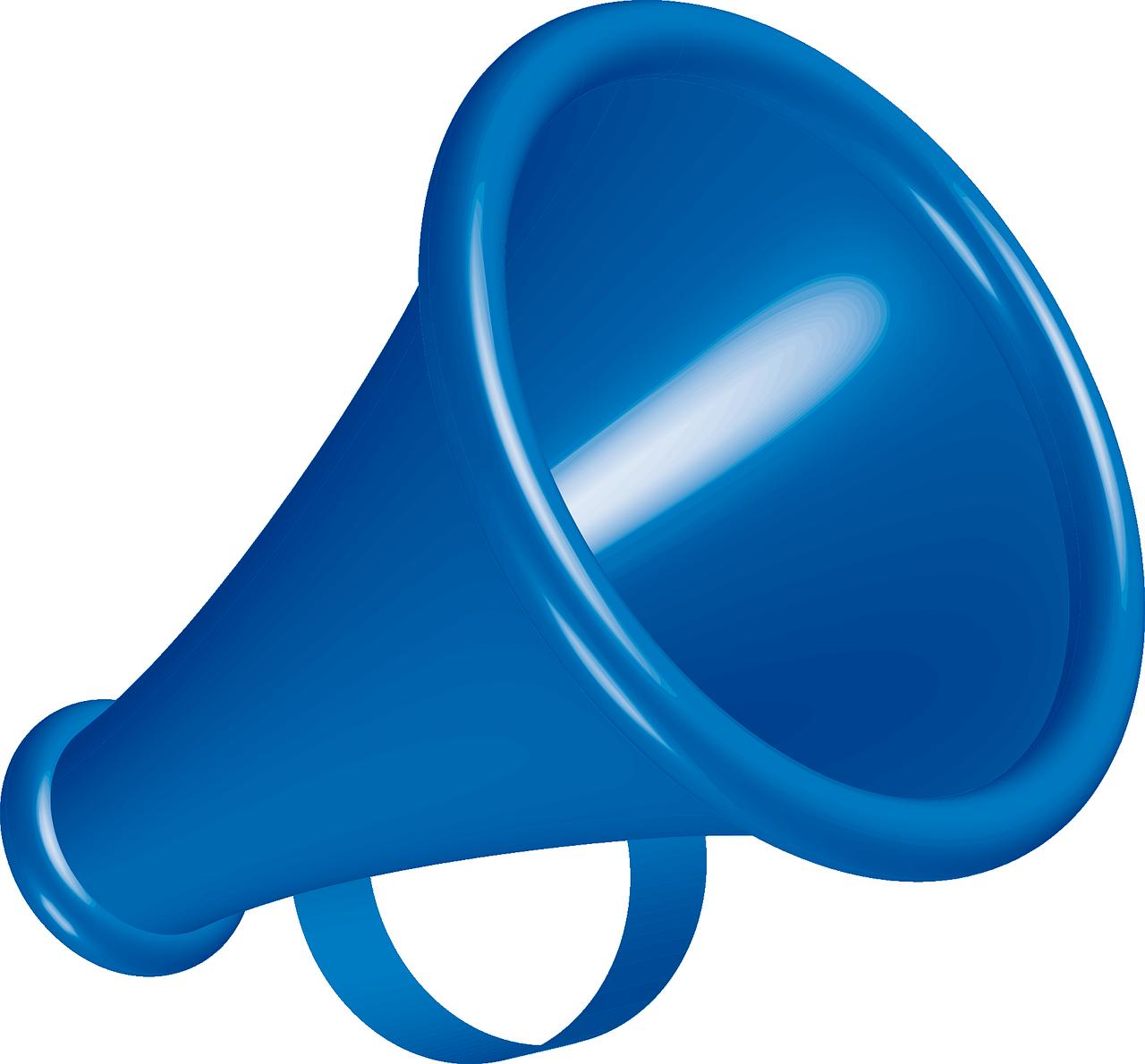 [megaphone icon]