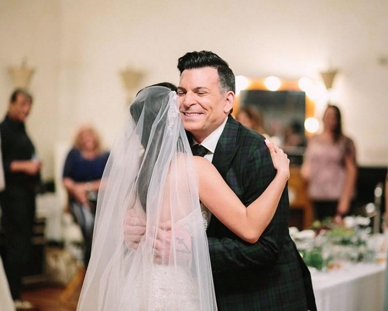 David with Kristin on her wedding day