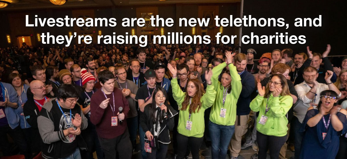 Livestreams are the new telethons, and they're raising millions for charities