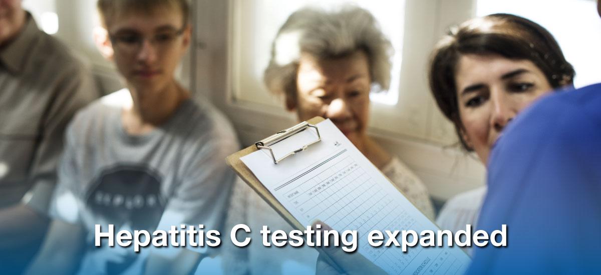 Hepatitis C testing expanded